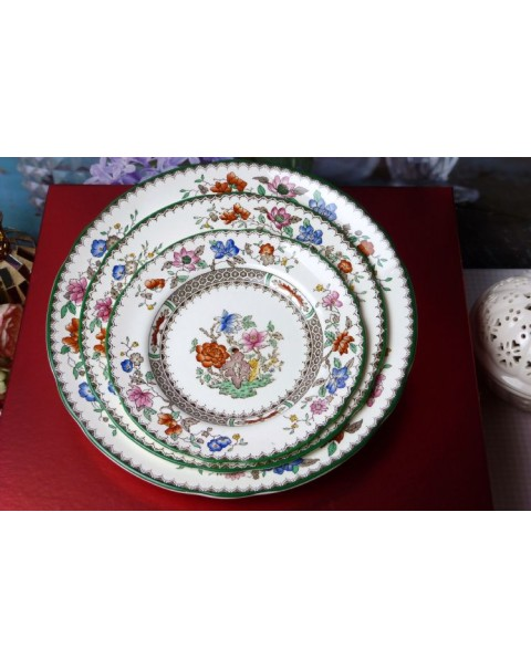 (OUT OF STOCK) SPODE CHINESE ROSE Vintage cake stand